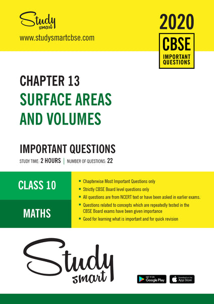 Class 10 Maths Chapter 13 Surface Areas and Volumes Most Important Questions