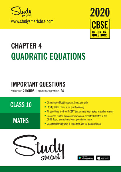 Class 10 Maths Chapter 4 Quadratic equations