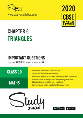 Class 10 Maths Chapter 6 Triangles Most Important Questions
