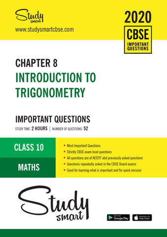 Class 10 Maths Chapter 8 Introduction to Trigonometry Most Important Questions