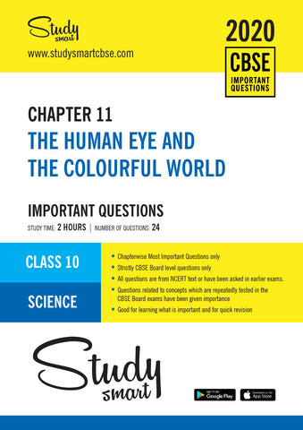 Class 10 Science Chapter 11 The Human  Eye and the Colourful World Most Important Questions