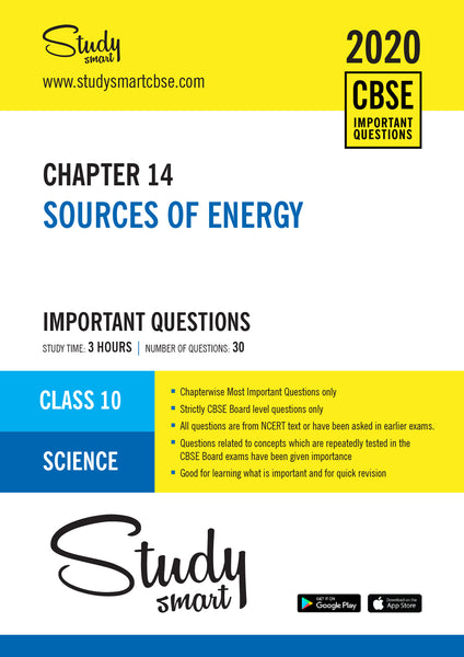 Class 10 Science Chapter 14 Sources of Energy Most Important Questions