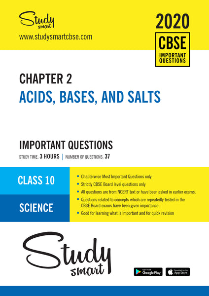 Class 10 Science Chapter 2 Acids, Bases, and Salts Most Important Questions