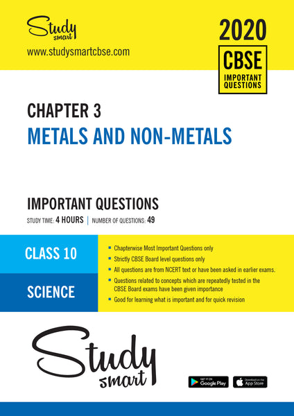 Class 10 Science Chapter 3 Metals and Non-metals Most Important Questions