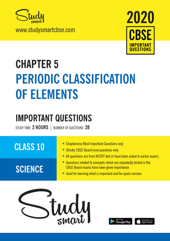 Class 10 Science Chapter 5 Periodic Classification of Elements Most  Important Questions