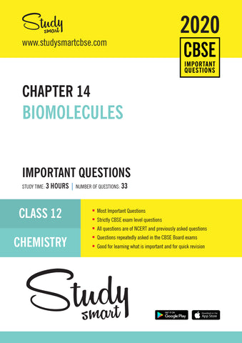 Class 12 Chemistry Chapter 14 Biomolecules Most Important Questions
