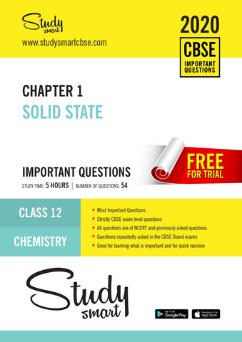 Class 12 Chemistry Chapter 1 Solid state Most Important Questions