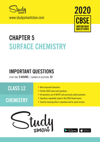 Class 12 Chemistry Chapter 5 Surface Chemistry Most Important Questions