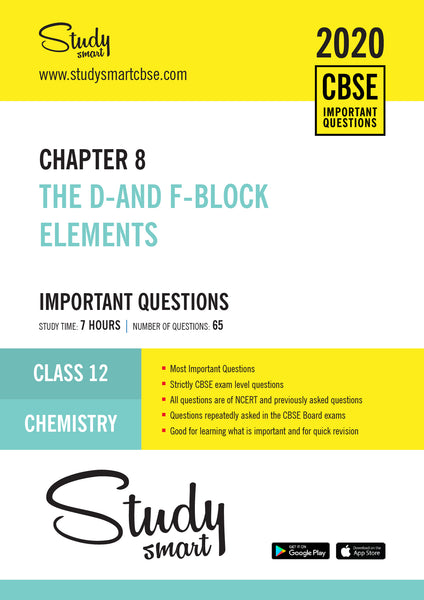 Class 12 Chemistry Chapter 8 The d-and f-Block Elements Most Important Questions