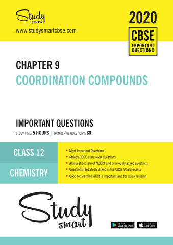 Class 12 Chemistry Chapter 9 Coordination Compounds Most Important Questions