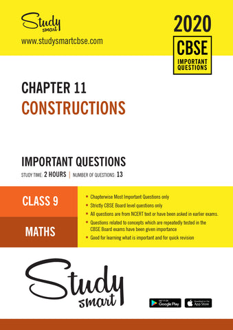 Class 9 Maths Chapter 11 Constructions  Most Important Questions