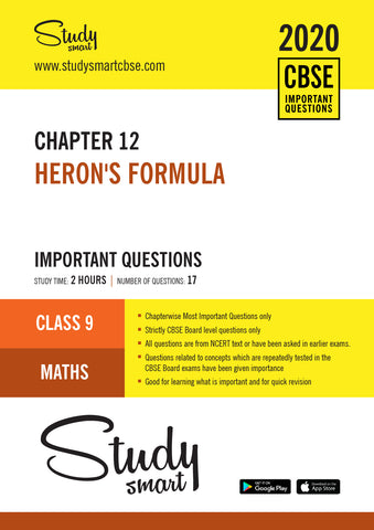 Class 9 Maths Chapter 12 Heron's Formula Most Important Questions