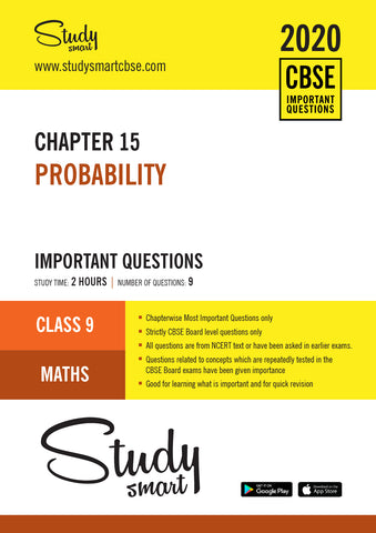 Class 9 Maths Chapter 15 Probability Most Important Questions