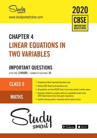 Class 9 Maths Chapter 4 Linear Equations in Two Variables Important Questions