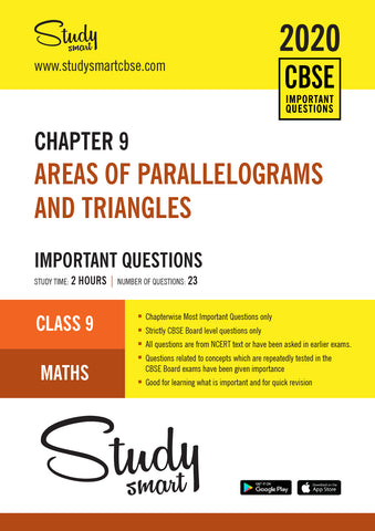 Class 9 Maths Chapter 9 Areas of parallelograms and triangles Most Important Questions