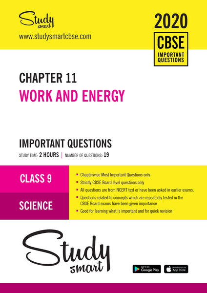Class 9 Science Chapter 11 Work and Energy Most Important Questions