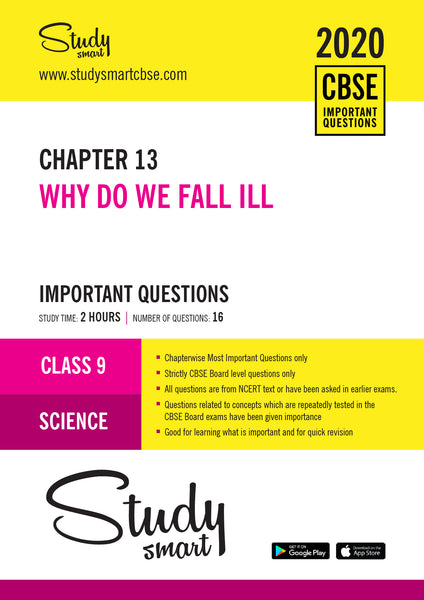 Class 9 Science Chapter 13 Why Do We Fall Ill Most Important Questions