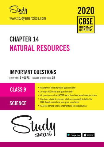 Class 9 Science Chapter 14 Natural Resources Most Important Questions