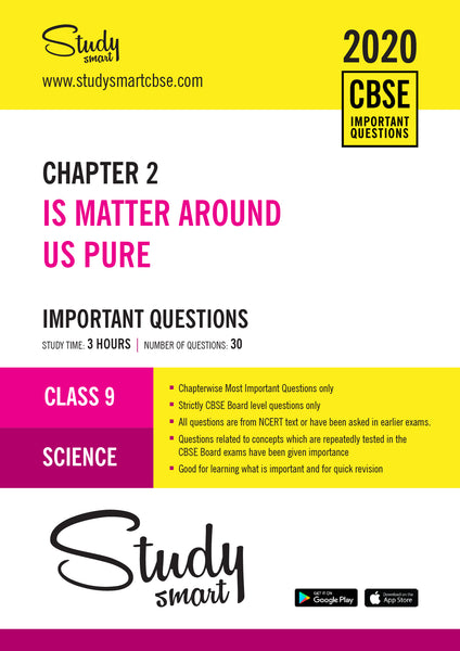 Class 9 Science Chapter 2 Is Matter Around Us  Pure Most Important Questions-01
