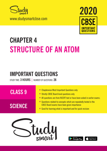 Class 9 Science Chapter 4 Structure of an atom Most Important Questions