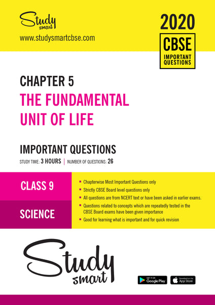 Class 9 Science Chapter 5 The Fundamental Unit of Life Most Important Questions