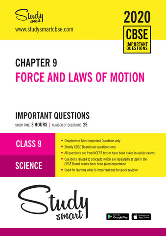 Class 9 Science Chapter 9 Force and Laws of Motion Most Important Questions