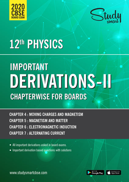Class 12 Physics DERIVATIONS 02 - Electricity and Magnetism