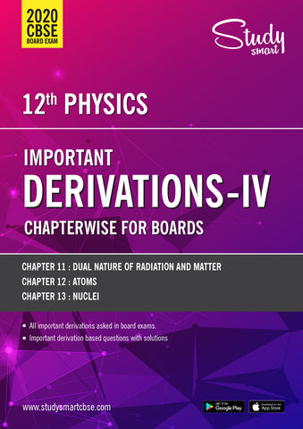 Class 12 Physics DERIVATIONS 04 -  DUAL NATURE,  ATOMS AND NUCLEI