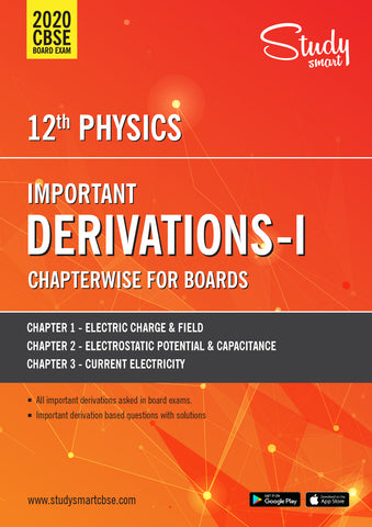 Class 12 Physics Important Derivations  CBSE  2020 Chapter Wise