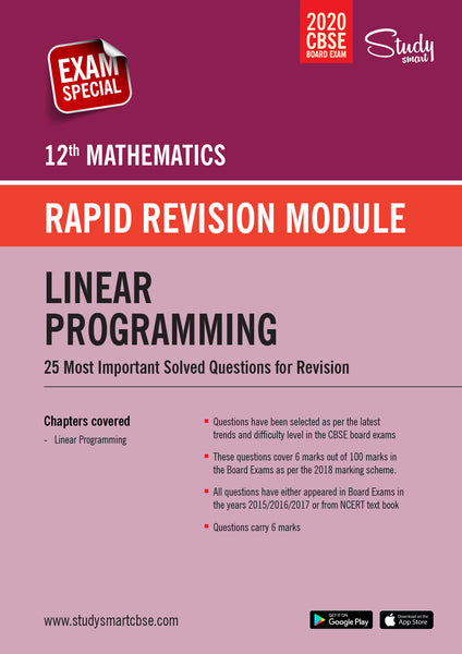 Class 12 Maths  Linear Programming - 25 Most Important Questions with Solutions