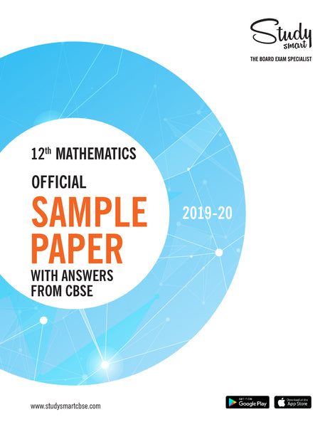 Class 12th Maths Official Sample Paper With Answers from CBSE for 2019-20