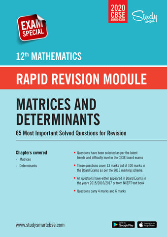 Class 12 Maths Matrices and Determinants - 65 Most Important Questions with Solutions