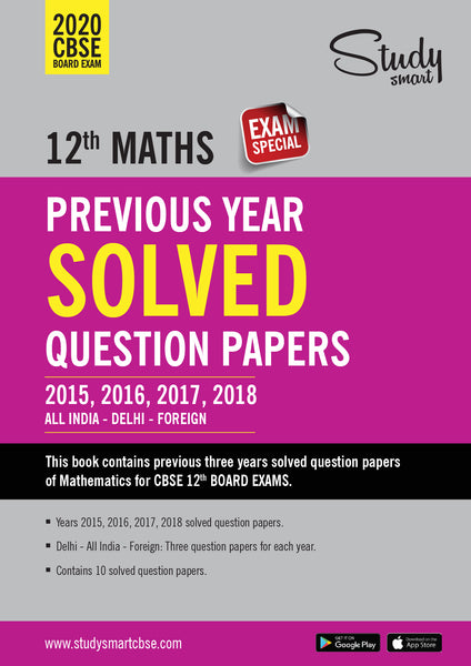 Class 12 Maths Previous Year Solved Papers Class XII Maths