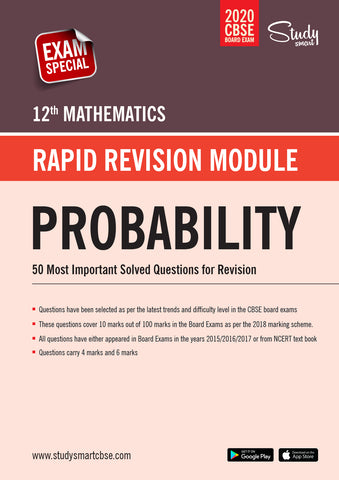 Class 12 Maths Probability -50 Most Important Questions with Solutions