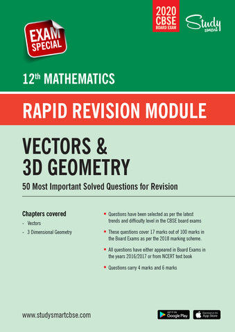 Class 12 Maths  Vectors and 3D Geometry - 50 Most Important Questions with Solutions