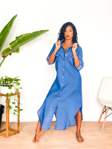 WADADA Basics Denim Shirt Dress