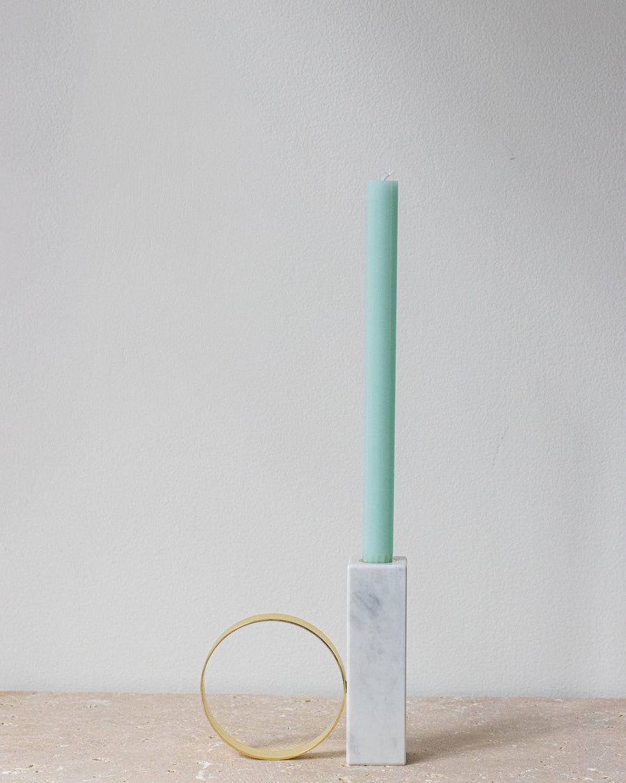 TANGENT CANDLEHOLDER - HIGH - WHITE - Miss Parfaite | Luxury Stationery