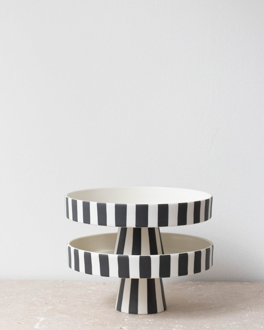 Black and White Toppu Tray - Miss Parfaite | Luxury Stationery