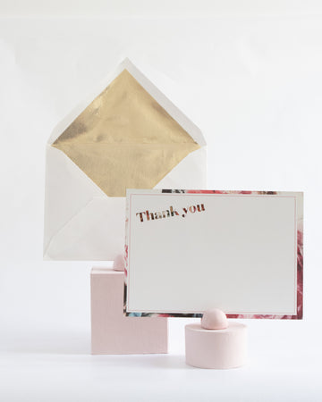 Floral Thank You - Miss Parfaite | Luxury Stationery