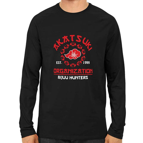 akatsuki organisation- Black full sleeve-min