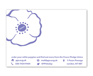 White Poppy Envelope Labels (Pack of 50)