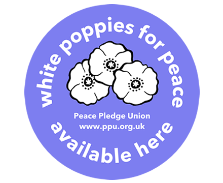 White Poppies Available Here (Shopfront Sticker x1)