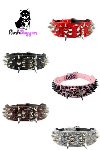 Dog Spiked Leather Collar