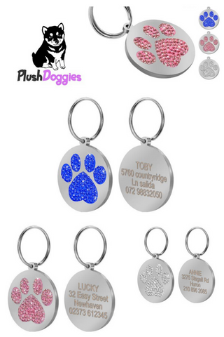 Personalized Glitter ID Tags
