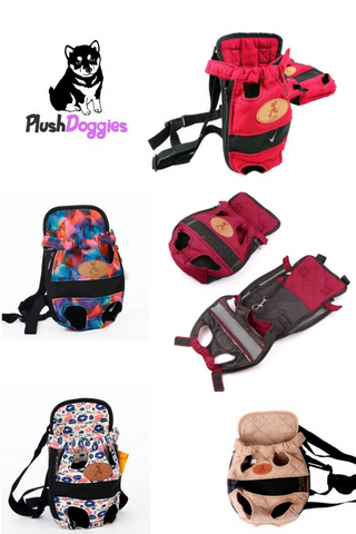 Dog Carrier Fashionable Shoulder Straps Travel Backpack For Pets And Puppies, - PlushDoggies