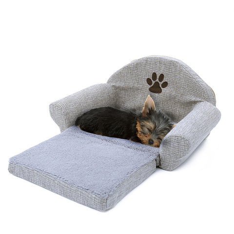 Dog Bed With Paw Print For Dogs