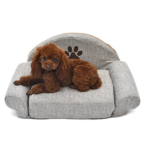 Dog Bed With Paw Print For Dogs,Pets - PlushDoggies