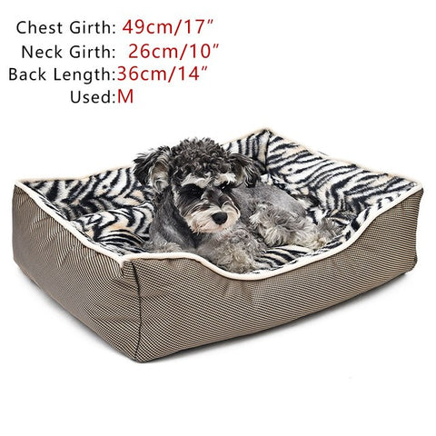 Soft Dog Bed Zebra Pattern For Small Dogs
