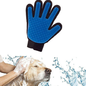 Dog Deshedding Cleaning & Massage Glove, - PlushDoggies