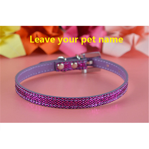 Personalized Bling Dog Collar, - PlushDoggies